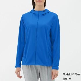 (GU)UVカットフルジップパーカ(長袖)GS BLUE S