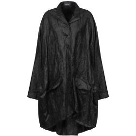 《セール開催中》RUNDHOLZ レディース コート ブラック S コットン 90% / ステンレススチール 10% / ポリウレタン