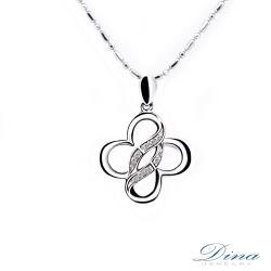 【DINA 蒂娜珠寶】花蝶  鑽石項鍊