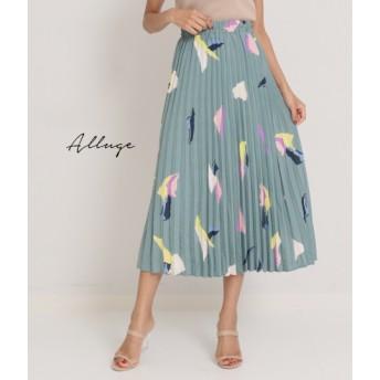 【セール開催中】ANAP(アナップ)ペイントプリントアコーディオンプリーツスカート