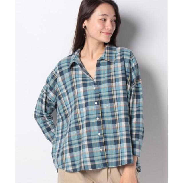 (Te chichi/テチチ)Lugnoncure ビックシルエットシャツ 長袖/レディース グリーン