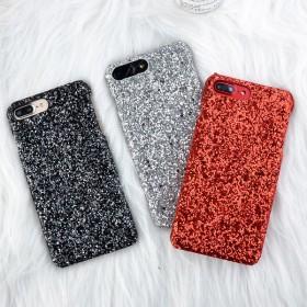 スマホケース - VICTORIA スマホケース グリッター 人気 キラキラ 携帯ケース アイホンケース iPhone 8 iPhone7 iPhone6iPhone6s iPhone 8 Plus 4.7インチ 5.5インチ 黒 ブラック 赤 レッド シルバー