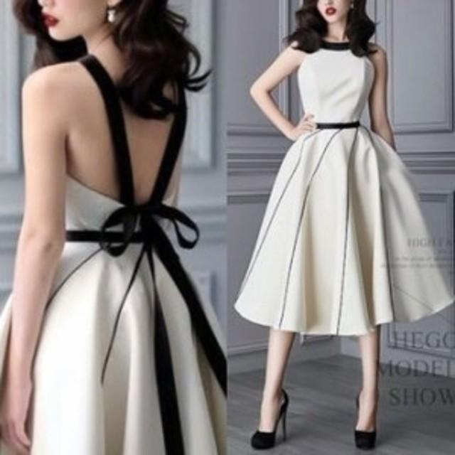 ワンピース ドレス 春 ホワイト ノースリーブ フレア 上品 エレガント 可愛い おしゃれ 大人 レディース 結婚式 fe-2613