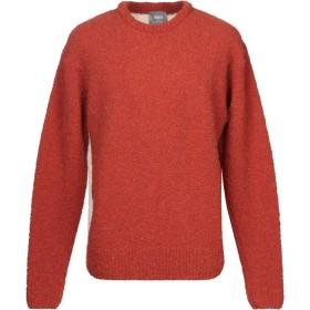 《期間限定セール開催中!》LOU DALTON メンズ プルオーバー 赤茶色 M 毛(アルパカ) 75% / ウール 13% / ウール 12% / カシミヤ