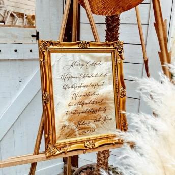 ミラーウェルカムボード 結婚証明書