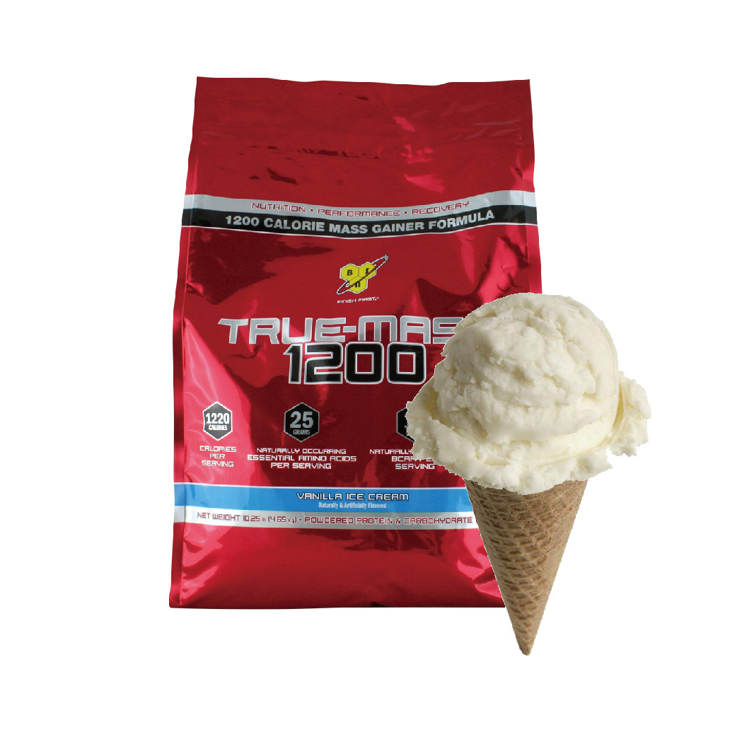 [美國 BSN] True-Mass 1200高熱量乳清蛋白 (10.25磅/袋)  香草冰淇淋
