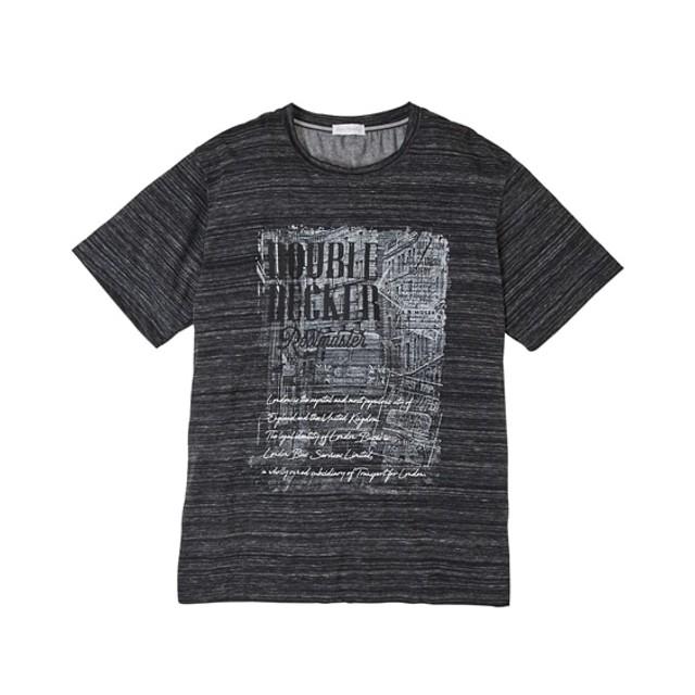 Louis Chavlon(ルイシャブロン) プリント半袖Tシャツ(デオドラントテープ付き) 大きいサイズメンズ Tシャツ・カットソー