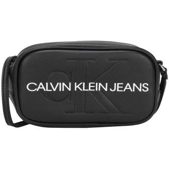 《期間限定セール開催中!》CALVIN KLEIN JEANS レディース メッセンジャーバッグ ブラック ポリウレタン 100% SCULPTED MONOGRAM CA