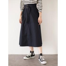 【5,000円以上お買物で送料無料】・アウトポケットフレアスカート
