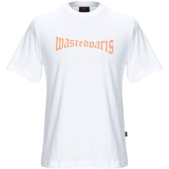 《セール開催中》WASTED メンズ T シャツ ホワイト S コットン 100%