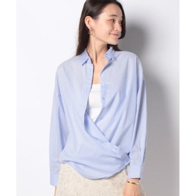 (Melan Cleuge/メラン クルージュ)ボイル2WAY BIGシャツ/レディース ブルー