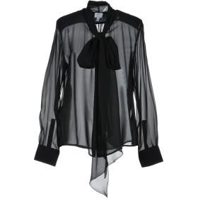 《期間限定セール開催中!》ARMANI COLLEZIONI レディース シャツ ブラック 42 シルク 100%