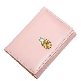 (REAL STYLE/リアルスタイル)三つ折りフルーツモチーフ財布 レディース 短財布 3つ折り さいふ サイフ ミニ財布 ミニウォレット ウォレット 小銭入れなし カードケース カード入れ 収納/レディース ラベンダー