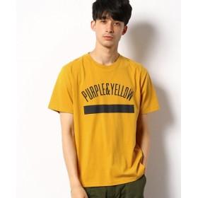 (COMME CA ISM/コムサイズム)ロゴプリント Tシャツ/ユニセックス マスタード