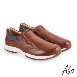 A.S.O 3D超動能 雙色臘感鞋-面休閒鞋-茶