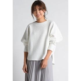 MAYSON GREY ドットジャガードショートプルオーバー Tシャツ・カットソー,ホワイト