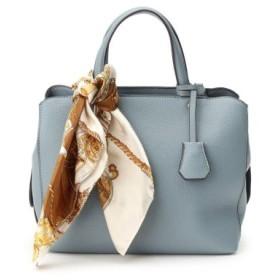 (Couture Brooch/クチュールブローチ)スカーフ付トートバッグ/レディース ライトブルー(091)