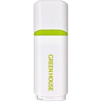 グリーンハウス(GREEN HOUSE) GH-UFY3EB32GGR USB3.0メモリー キャップタイプ 32GB ホワイト グリーン
