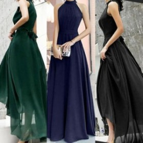 ワンピース ドレス 春 3カラー ノースリーブ ロング シンプル 上品 エレガント 可愛い おしゃれ 大人 レディース 結婚式 fe-2607