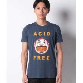 (SISLEY/シスレー)シルクタッチプリント半袖Tシャツ・カットソー/メンズ ネイビー