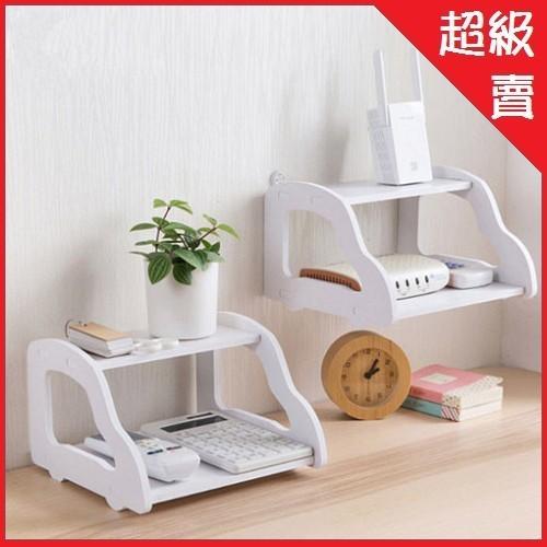 diy雙層木質桌上壁掛收納架 置物架ap07001