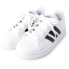(SHOO・LA・RUE(Kids)/シューラルーキッズ)adidas GRANDCOURT K スニーカー/レディース オフホワイト(003)