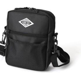 (REAL STYLE/リアルスタイル)ミニスクエアショルダー バッグ レディース メンズ 男女兼用 ユニセックス かばん カバン 鞄 ミニショルダーバッグミニショルダー ミニバッグ ポシェット ウエ/レディース ブラック