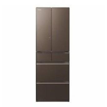 【未使用・開梱品】HITACHI(日立) 【標準設置無料】 R-HW52K-XH-M1 6ドア冷蔵庫(520L・フレンチドア) グレイッシュブラウン