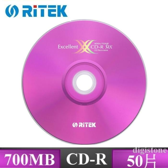 RITEK 錸德 X版 52x CD-R 原廠50片裝