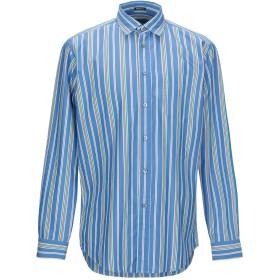 《期間限定セール開催中!》ZEGNA SPORT メンズ シャツ ブルー M コットン 70% / シルク 30%