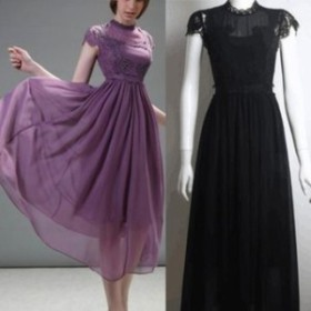 ワンピース ドレス 春 2カラー 上品 半袖 エレガント 可愛い おしゃれ 大人 レディース 結婚式 fe-2528