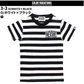 ネクストウォール メンズ NEV ボーダーTシャツ 半袖Tシャツ メンズ ブラック系3 L 【NEXT WALL】