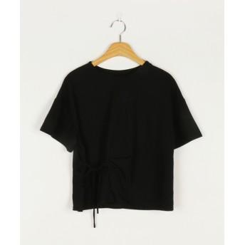 Tシャツ - NOWiSTYLE MICHYEORA(ミチョラ)リボンポイントTシャツ韓国 韓国ファッション Tシャツ トップス 半袖 リボン 絞り ラップ