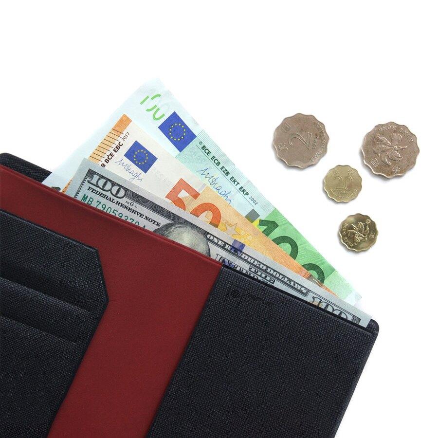 【FENICE】可放鈔票式護照套 S size(深藍)