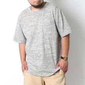 Tシャツ - MARUKAWA Tシャツ 大きいサイズ メンズ 夏 杢 無地 抗菌防臭 消臭 半袖 ポケット 付き グレー/レッド/グリーン/ブルー/ネイビー2L/3L/4L/5L【ティーシャツ ポケットTシャツ ポケットT ポケT シンプル】