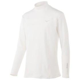 (セール)MIZUNO(ミズノ)ゴルフ アクセサリー バイオネクスト ブレスサーモハイネック長袖 52MJ750301 メンズ ホワイト
