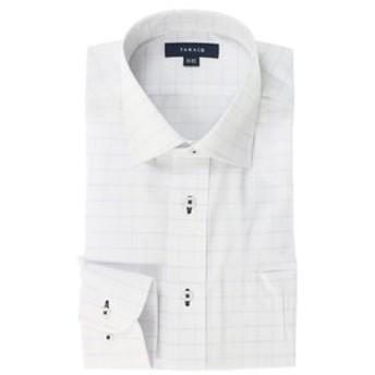 【TAKA-Q:トップス】形態安定抗菌防臭レギュラーフィット ワイドカラー長袖ビジネスドレスシャツ/ワイシャツ