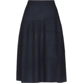 《送料無料》JIL SANDER レディース 7分丈スカート ダークブルー 38 ウール 100%