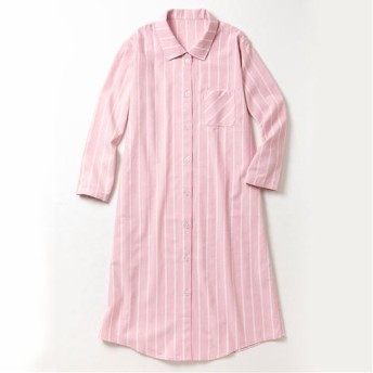 40%OFF【レディース】 シャツワンピース(綿100%) - セシール ■カラー:ピンク系 ■サイズ:3L,L