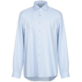 《セール開催中》CALVIN KLEIN メンズ シャツ スカイブルー 44 コットン 90% / ポリウレタン 10%