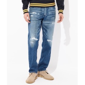 Wrangler 【WEB限定】カウボーイテーパードクラッシュデニムパンツ メンズ 中濃加工色