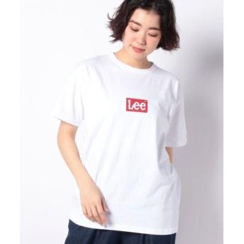 (LEE/リー)BOX LOGO Tシャツ 半袖/レディース ホワイト1