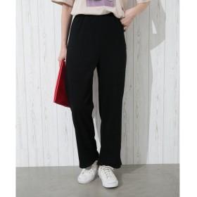 Libby & Rose リブワイドパンツ ブラック M レディース 5,000円(税抜)以上購入で送料無料 ワイドパンツ ガウチョ 夏 レディースファッション アパレル 通販 大きいサイズ コーデ 安い おしゃれ お洒落 20代 30代 40代 50代 女性 パンツ ズボン