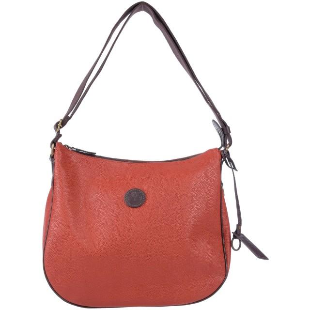 《セール開催中》TIMBERLAND レディース 肩掛けバッグ 赤茶色 革