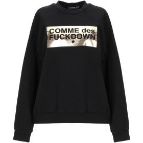 《期間限定 セール開催中》COMME DES FUCKDOWN レディース スウェットシャツ ブラック XS コットン 100%