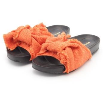 71%OFF Ray Cassin (レイカズン) フリンジリボンサンダル オレンジ