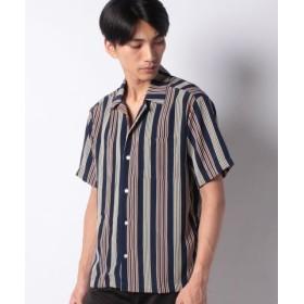 (LiFESiZE/LiFESiZE)オープンカラー 半袖シャツ/メンズ ネイビー
