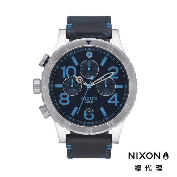 NIXON 48-20 正裝錶 休閒錶 海軍藍 潮人裝備 潮人態度 禮物首選