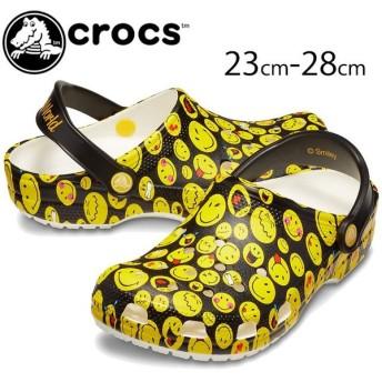クロックス crocs クロッグサンダル メンズ レディース 205714 クラシック スマイリー クロッグ コンフォート マルチ