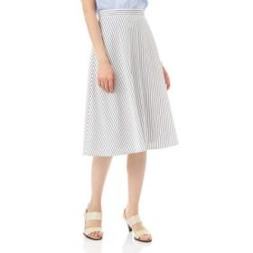 (NATURAL BEAUTY/ナチュラル ビューティー) 宇賀なつみさん、松村未央さん着用 ペンシルストライプスカート/レディース ホワイト 送料無料